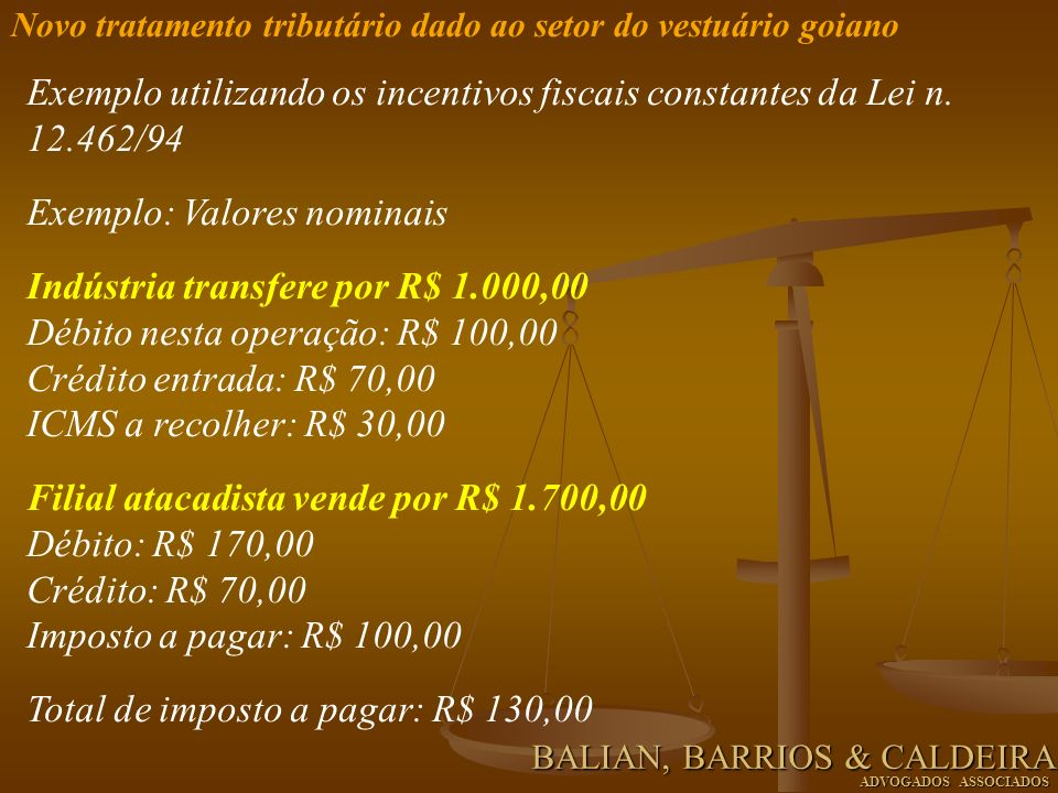 Exemplo: Valores nominais Indústria transfere por R$ 1.000,00