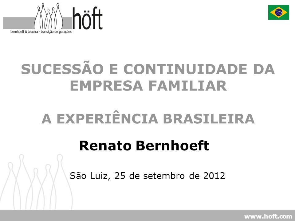 SUCESSÃO E CONTINUIDADE DA EMPRESA FAMILIAR A EXPERIÊNCIA BRASILEIRA