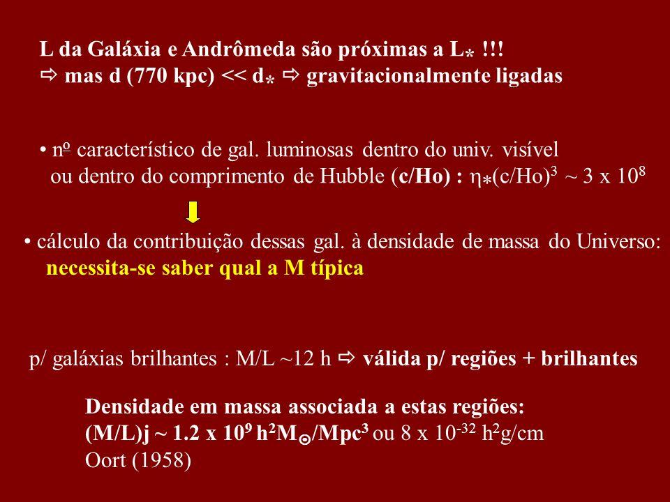 L da Galáxia e Andrômeda são próximas a L* !!!