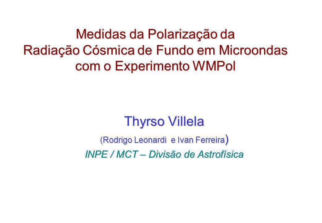 Medidas da Polarização da Radiação Cósmica de Fundo em Microondas com o Experimento WMPol