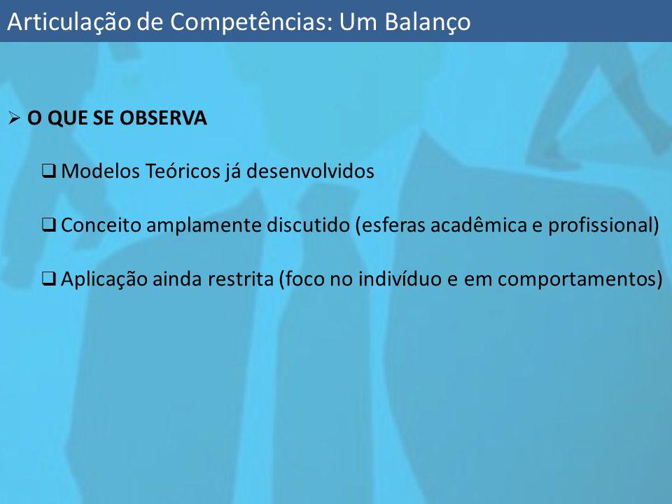 Articulação de Competências: Um Balanço
