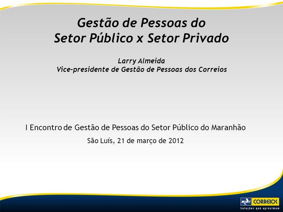 Gestão de Pessoas do Setor Público x Setor Privado