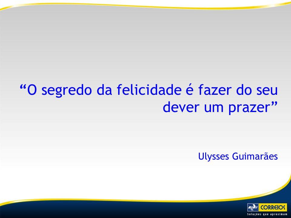 O segredo da felicidade é fazer do seu dever um prazer Ulysses Guimarães