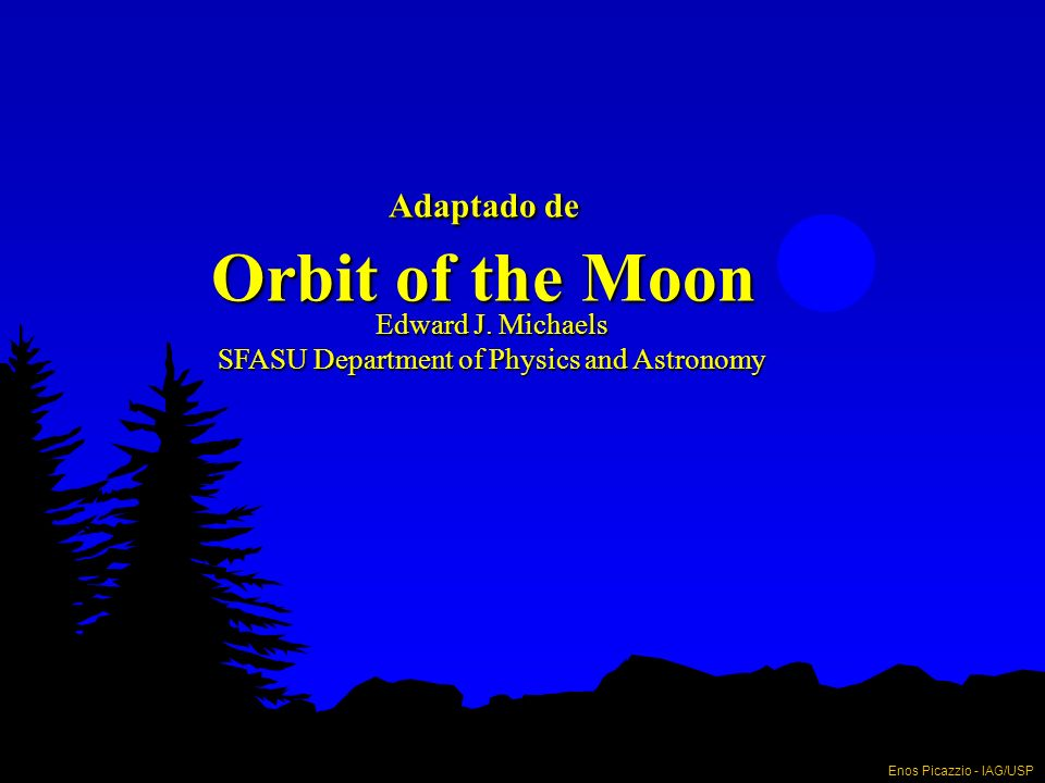 Adaptado de Orbit of the Moon