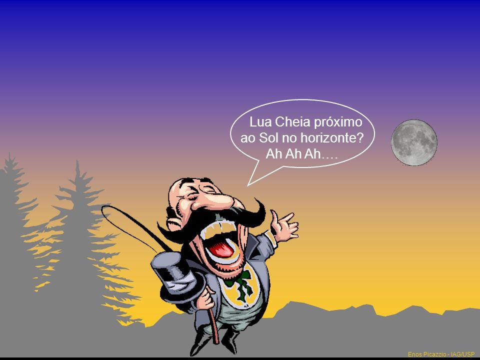 Lua Cheia próximo ao Sol no horizonte Ah Ah Ah….