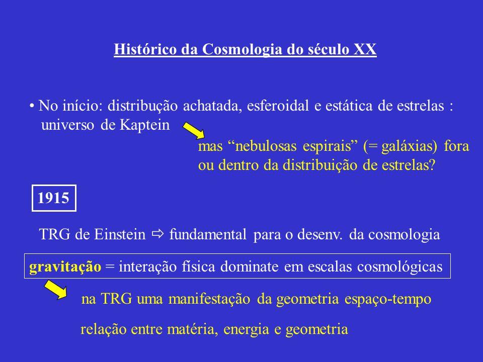 TRG de Einstein  fundamental para o desenv. da cosmologia
