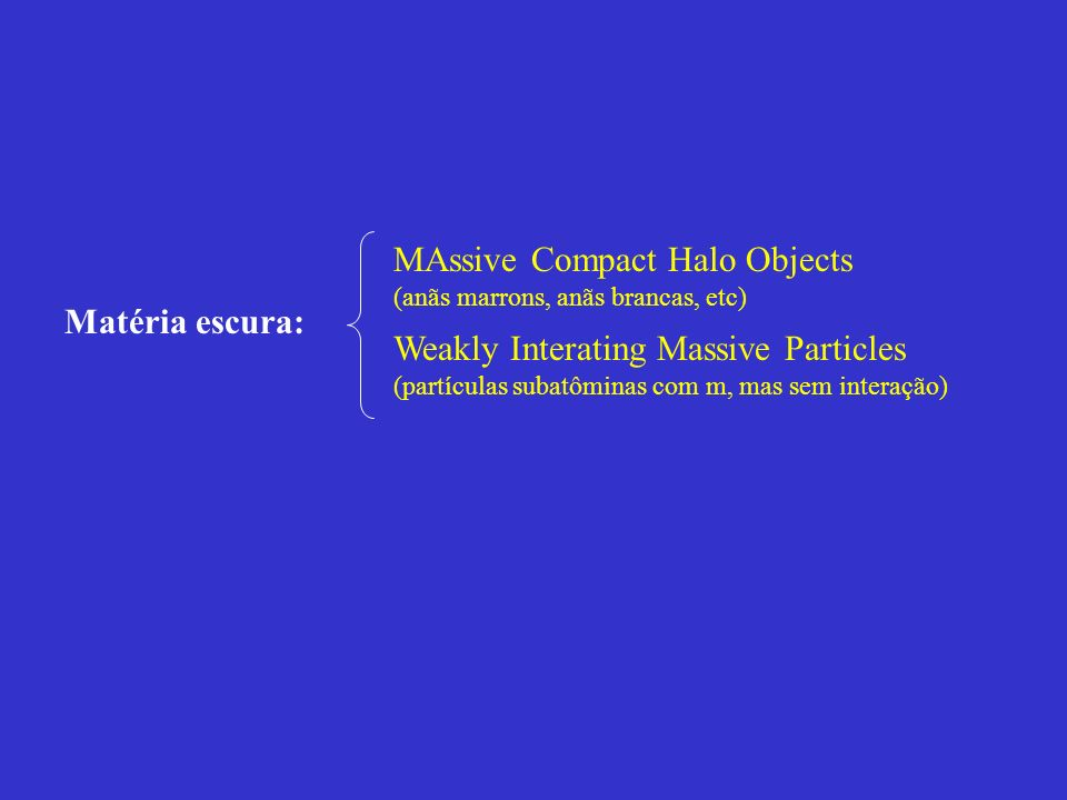 MAssive Compact Halo Objects