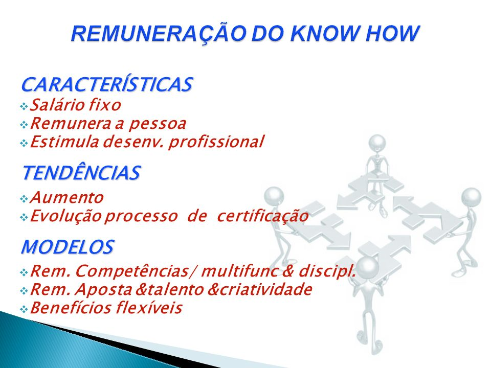 REMUNERAÇÃO DO KNOW HOW