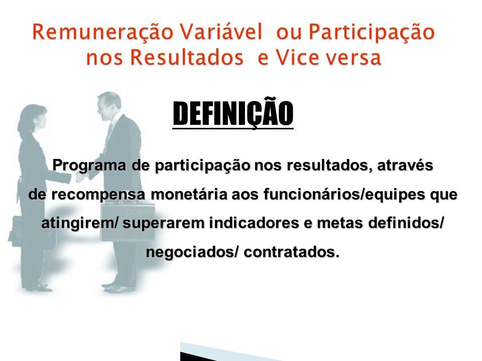 Remuneração Variável ou Participação nos Resultados e Vice versa