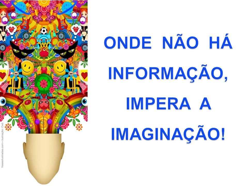 ONDE NÃO HÁ INFORMAÇÃO, IMPERA A IMAGINAÇÃO!