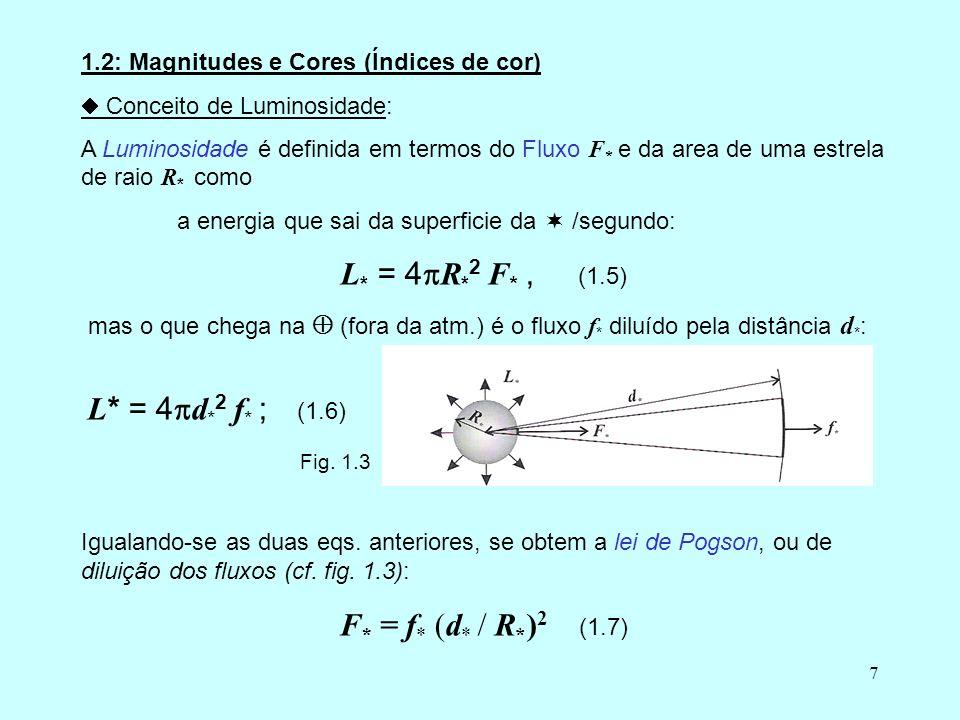 L* = 4R*2 F* , (1.5) F* = f* (d* / R*)2 (1.7)