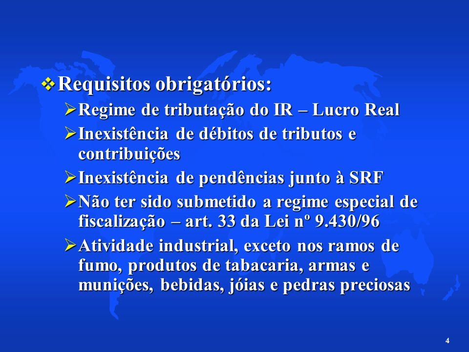Requisitos obrigatórios:
