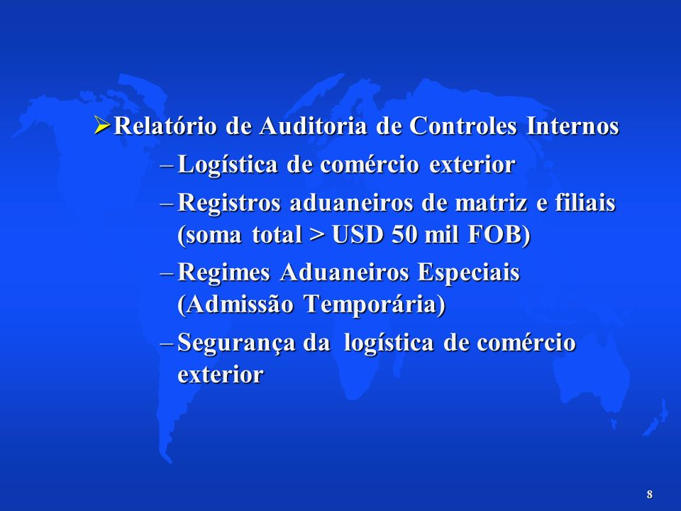 Relatório de Auditoria de Controles Internos