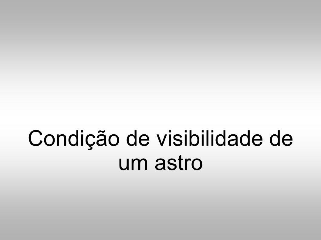 Condição de visibilidade de um astro