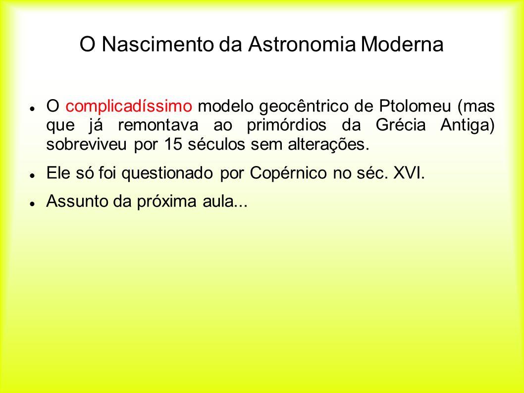 O Nascimento da Astronomia Moderna