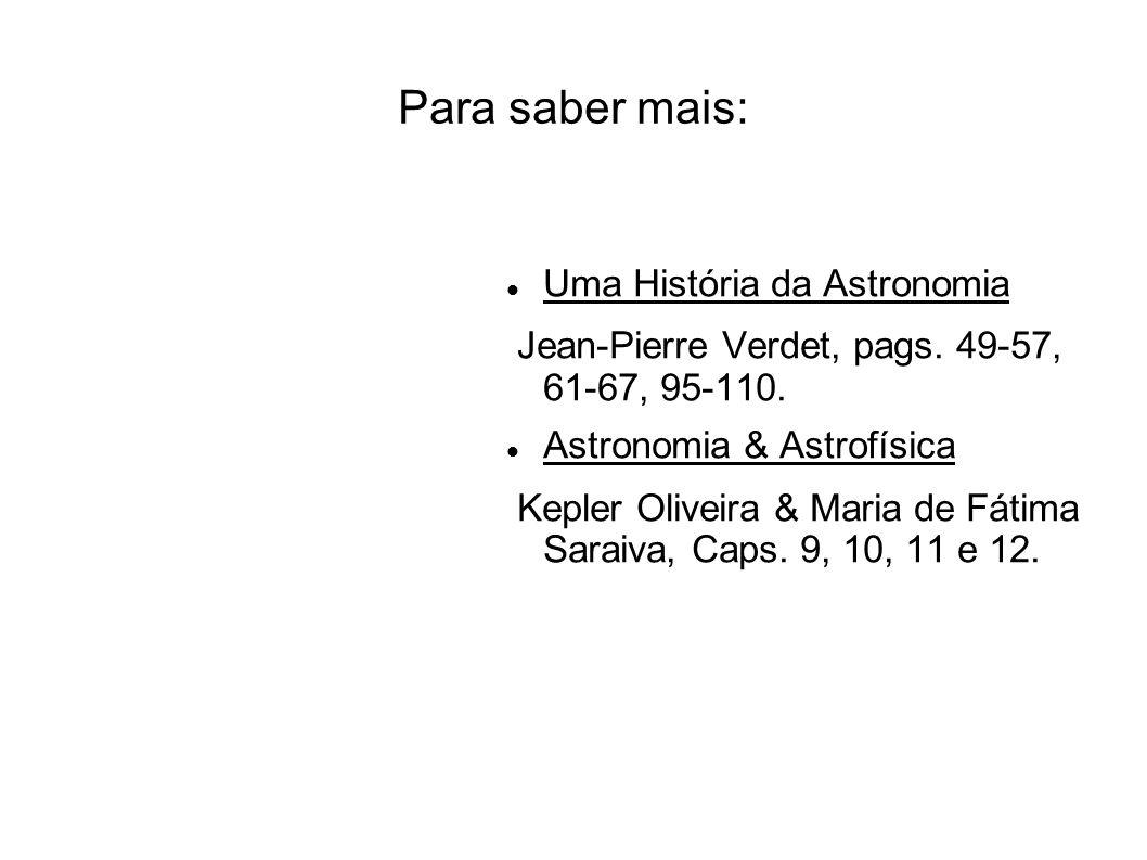 Para saber mais: Uma História da Astronomia
