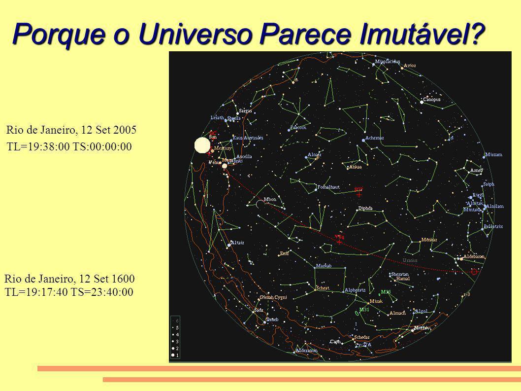 Porque o Universo Parece Imutável