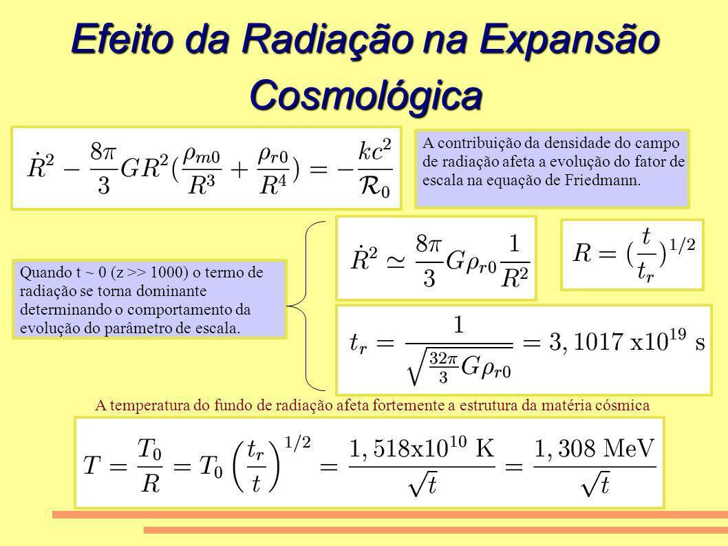 Efeito da Radiação na Expansão Cosmológica