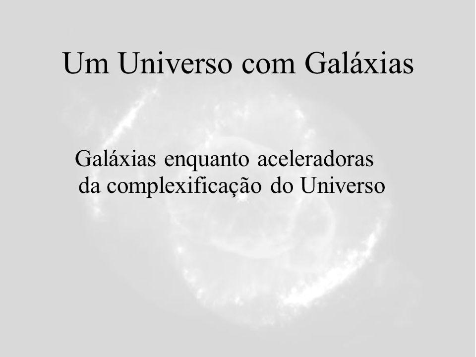 Um Universo com Galáxias