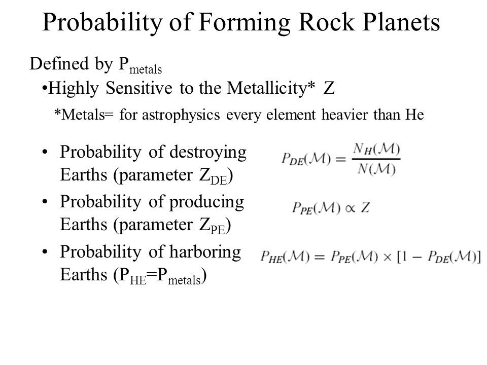 Probability of Forming Rock Planets