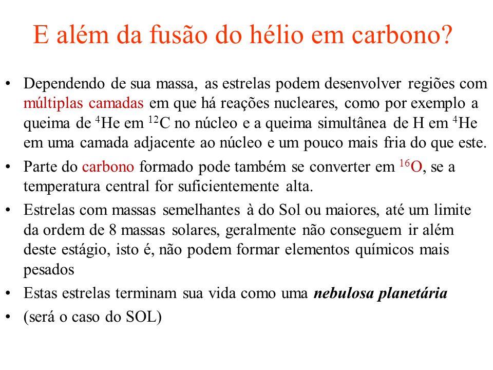 E além da fusão do hélio em carbono