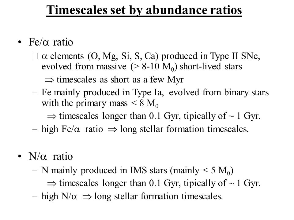 Timescales set by abundance ratios