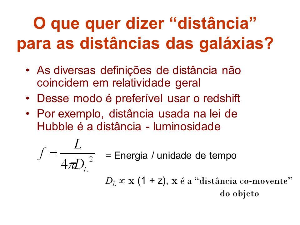 O que quer dizer distância para as distâncias das galáxias