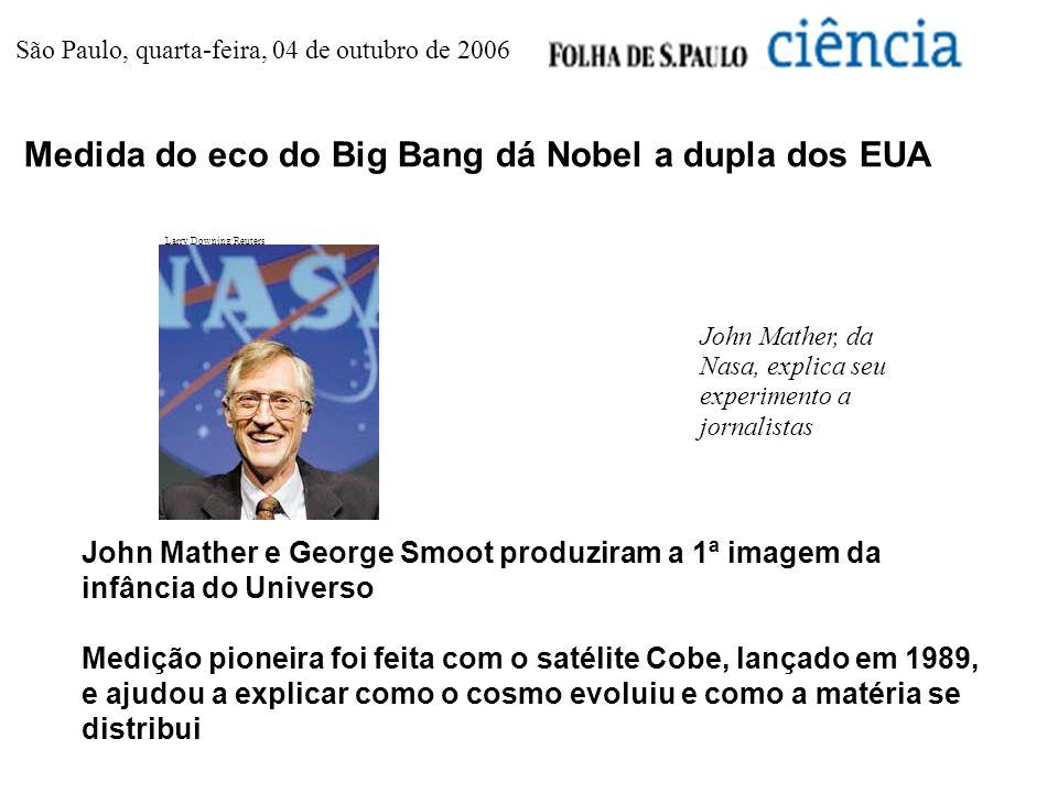 Medida do eco do Big Bang dá Nobel a dupla dos EUA