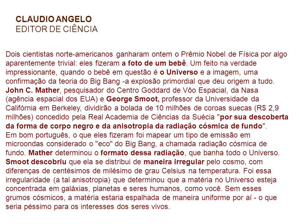 CLAUDIO ANGELO EDITOR DE CIÊNCIA