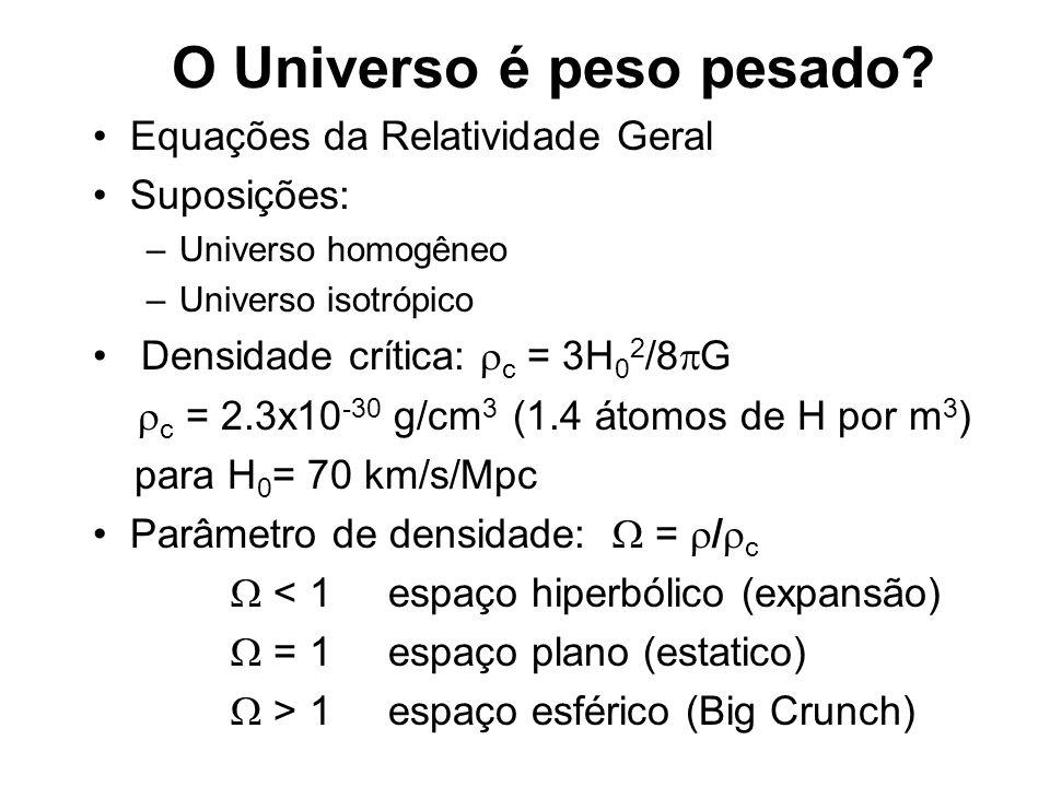 O Universo é peso pesado