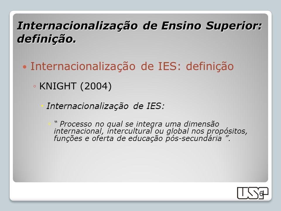 Internacionalização de Ensino Superior: definição.