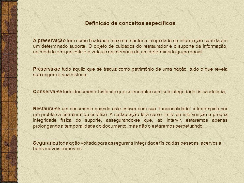 Definição de conceitos específicos