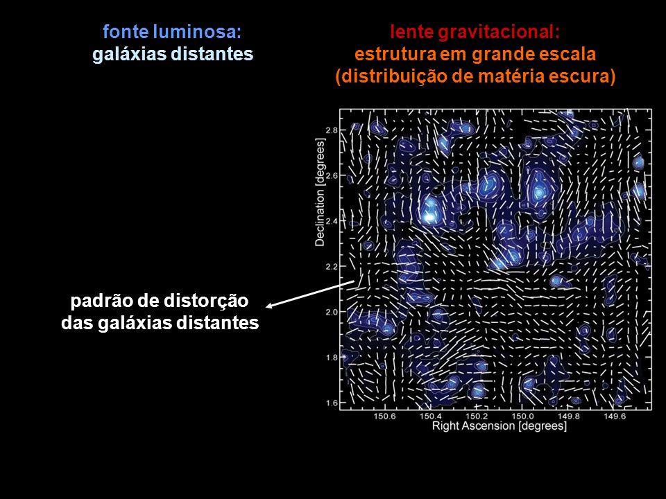 estrutura em grande escala (distribuição de matéria escura)
