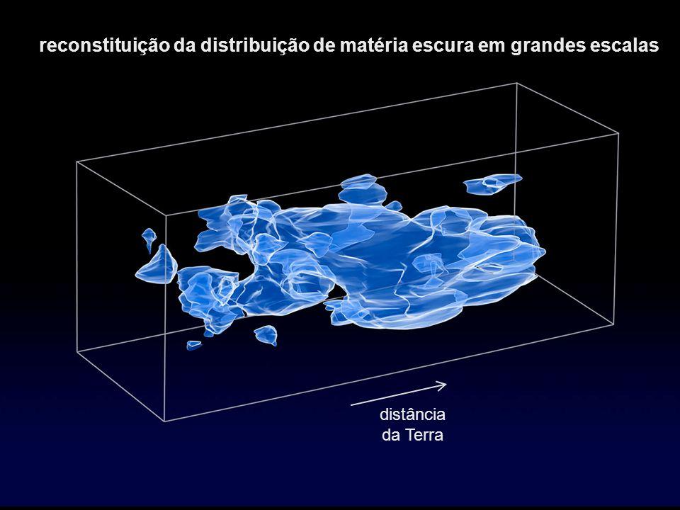 reconstituição da distribuição de matéria escura em grandes escalas