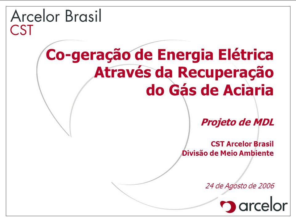 Co-geração de Energia Elétrica Através da Recuperação do Gás de Aciaria