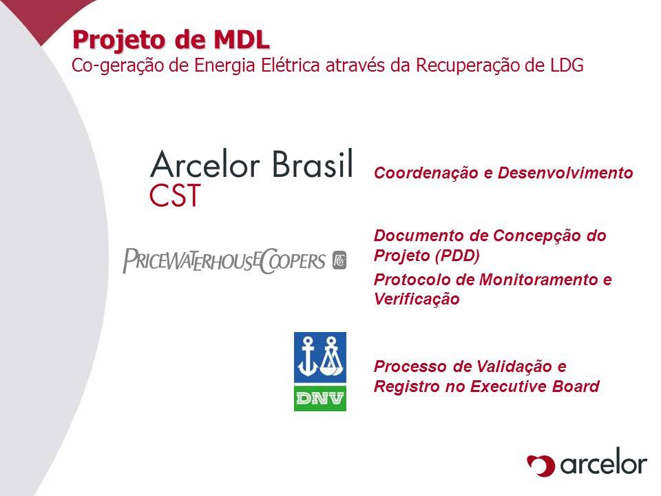 Projeto de MDL Co-geração de Energia Elétrica através da Recuperação de LDG