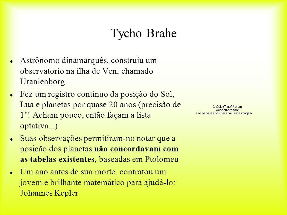 Tycho Brahe Astrônomo dinamarquês, construiu um observatório na ilha de Ven, chamado Uranienborg.