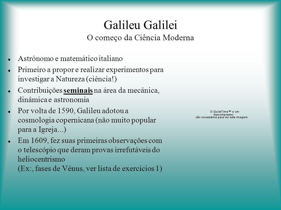 Galileu Galilei O começo da Ciência Moderna