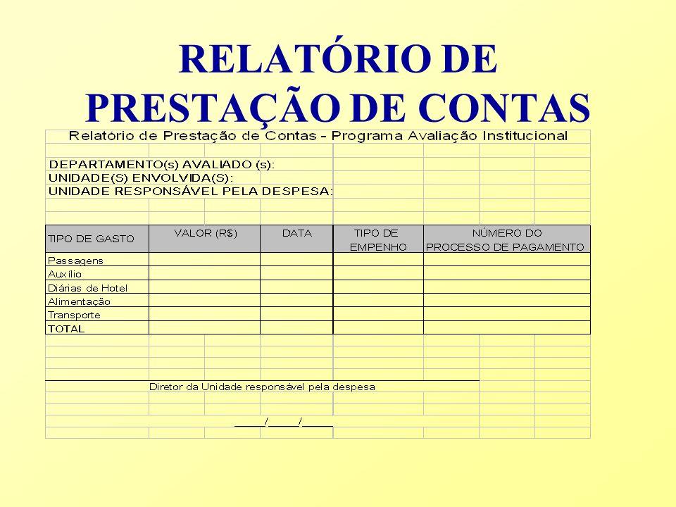 RELATÓRIO DE PRESTAÇÃO DE CONTAS