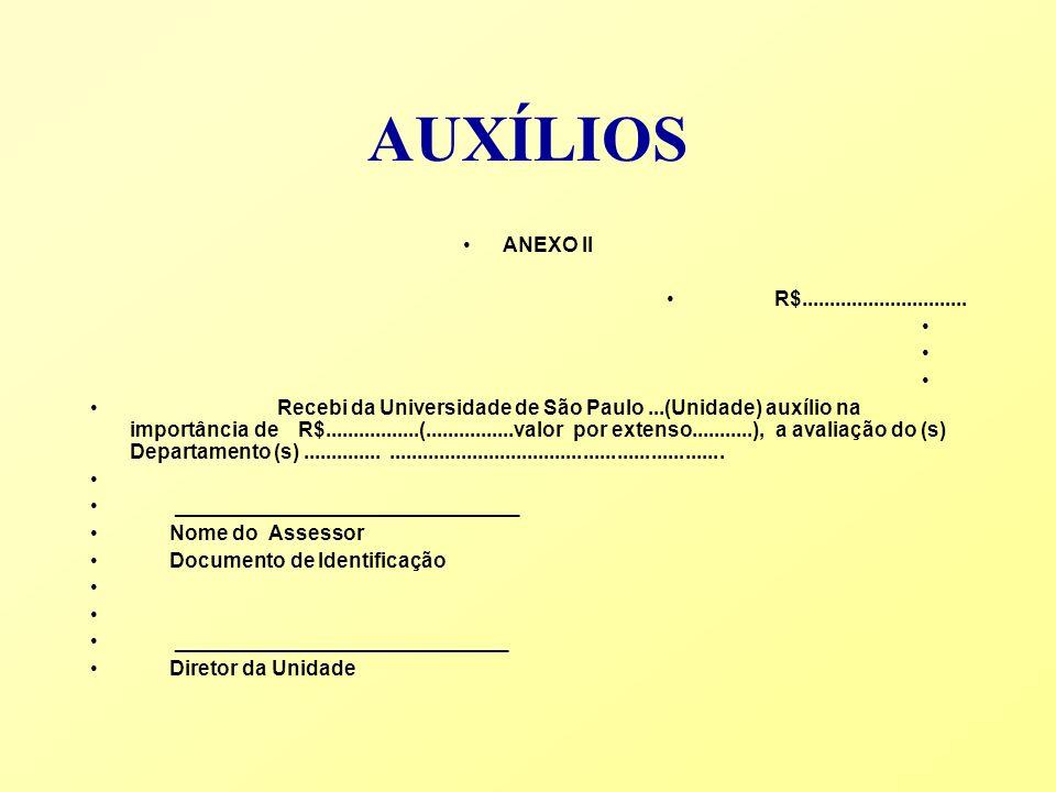 AUXÍLIOS ANEXO II. R$..............................