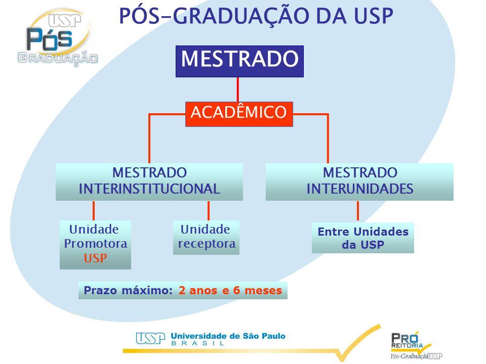 MESTRADO INTERINSTITUCIONAL MESTRADO INTERUNIDADES