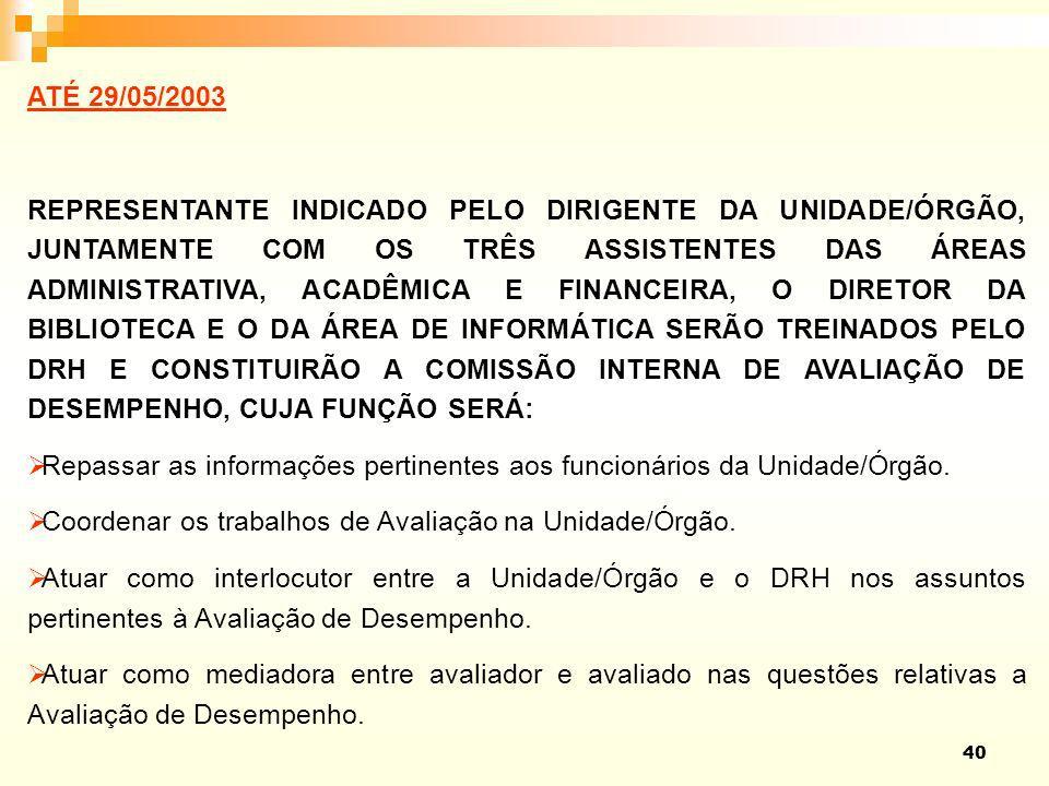 Repassar as informações pertinentes aos funcionários da Unidade/Órgão.