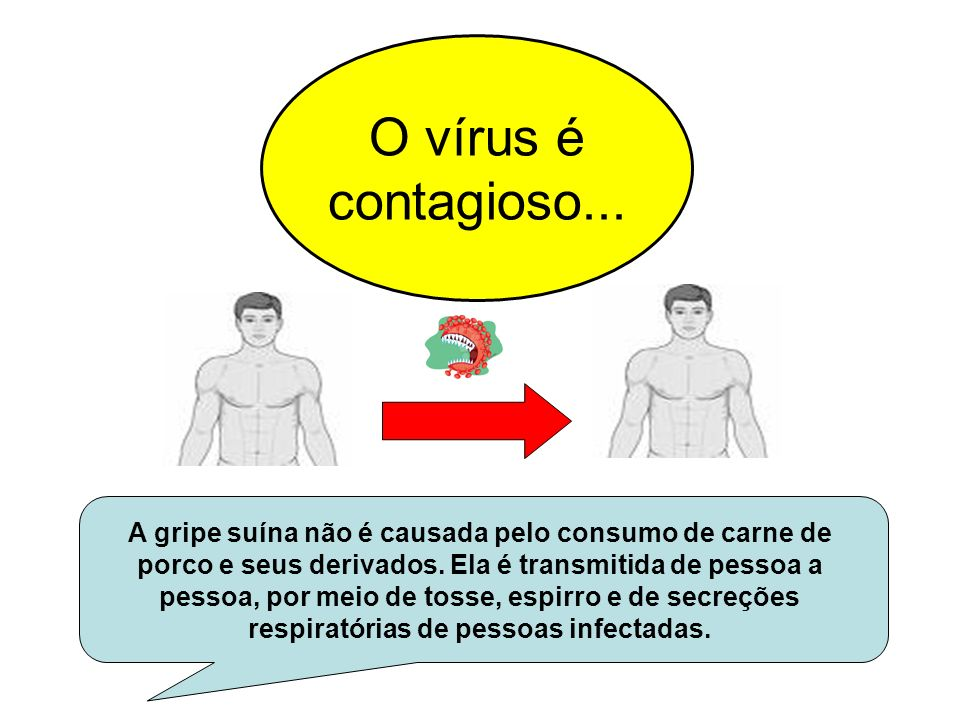 O vírus é contagioso...