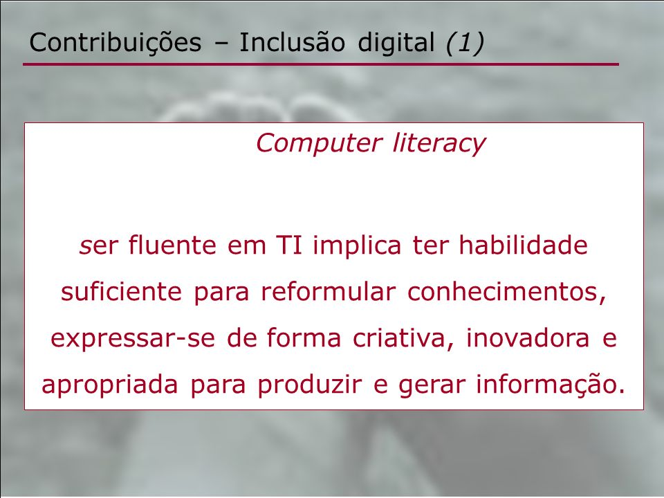 Contribuições – Inclusão digital (1)