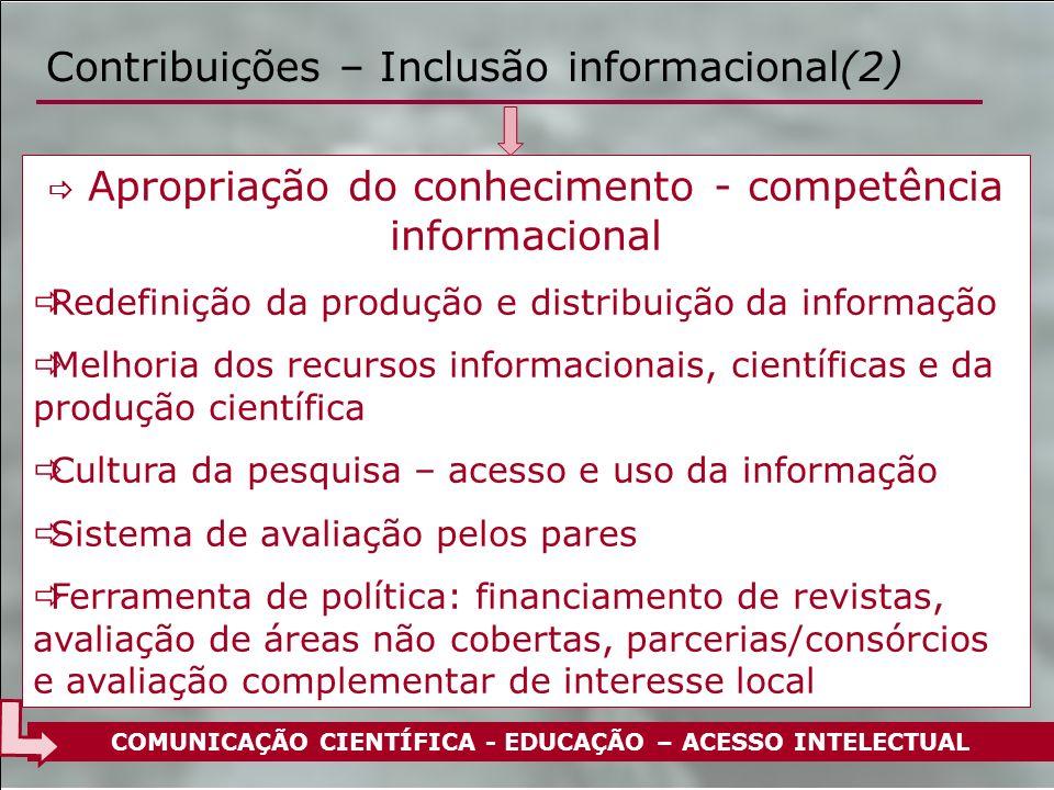 Contribuições – Inclusão informacional(2)