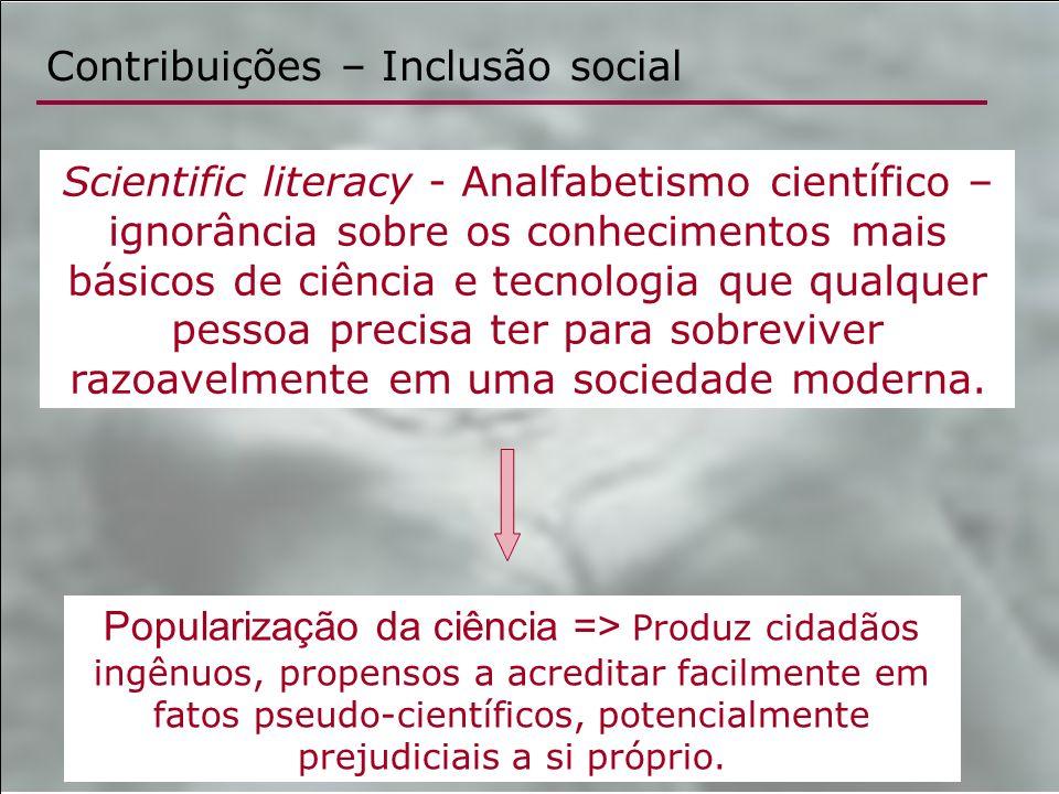 Contribuições – Inclusão social