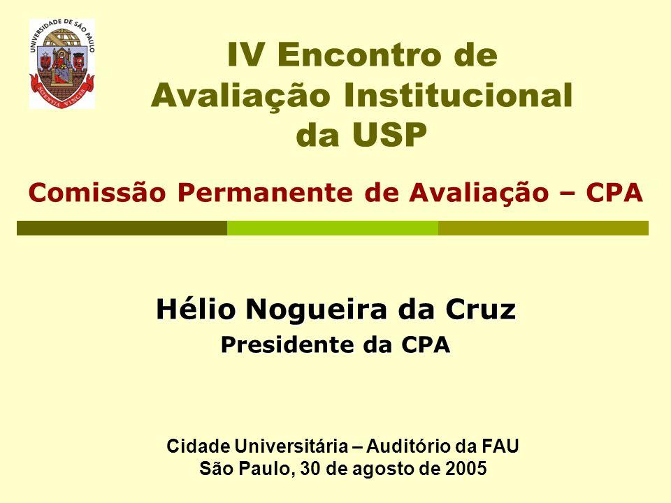 IV Encontro de Avaliação Institucional da USP