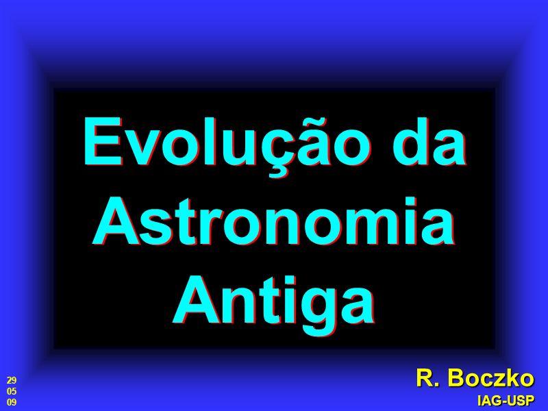 Evolução da Astronomia Antiga
