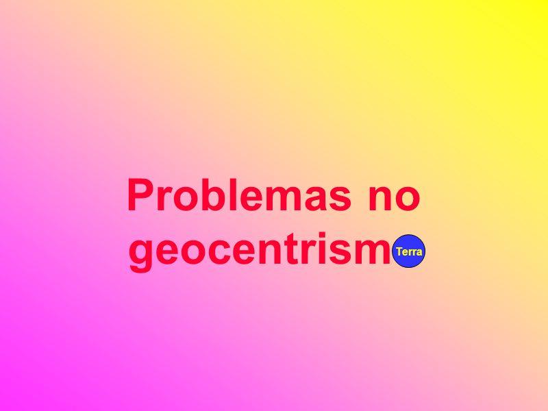 Problemas no geocentrismo
