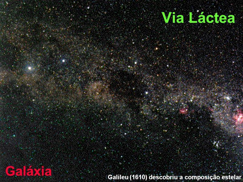 Galileu (1610) descobriu a composição estelar